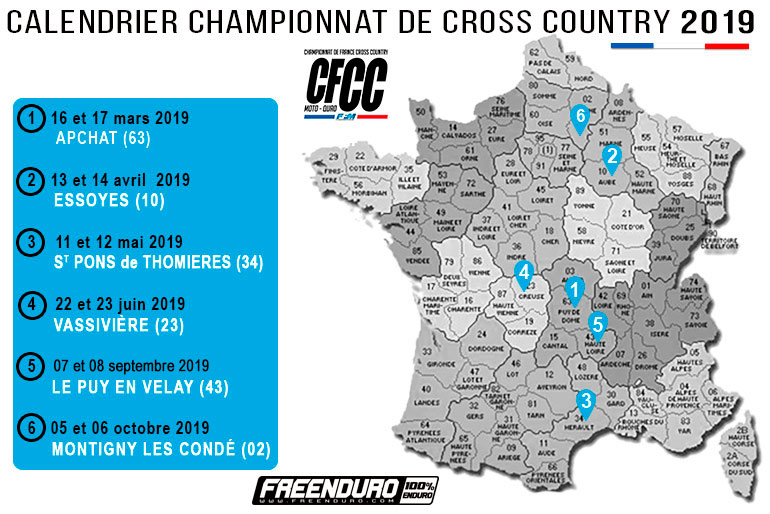 calendrier cross country 2019 2