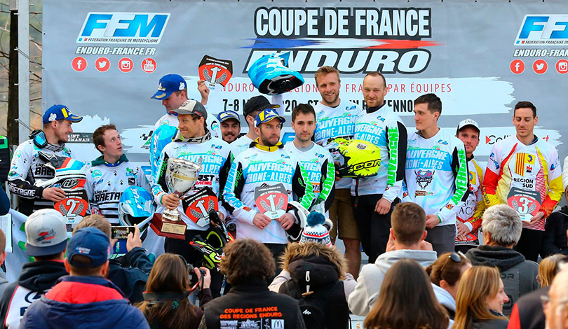 podium pilotes coupe de France enduro 2020