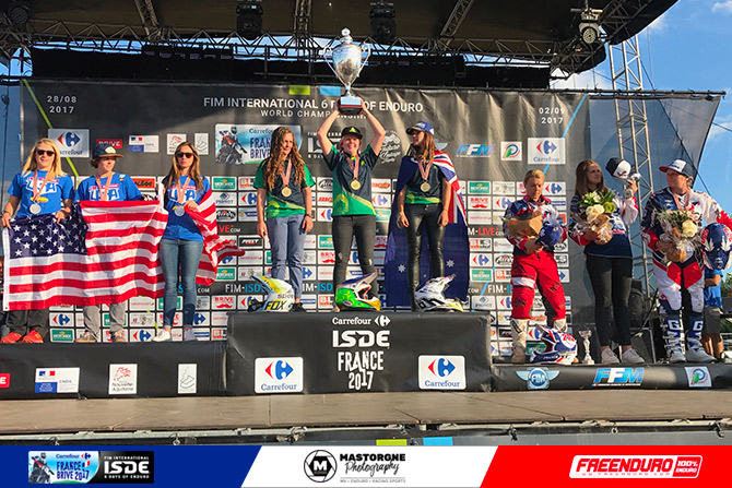 france filles podium iSDE 2017