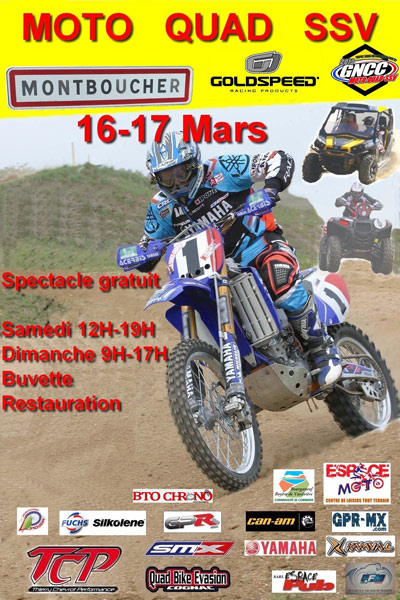 Affiche cross country moto 2013