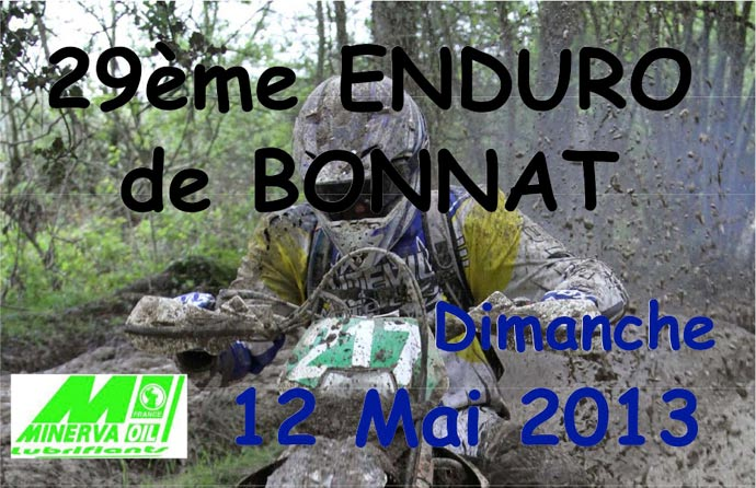 enduro de ligue de Bonnat  2013