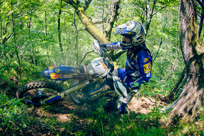 Graham Jarvis Franchissment moto husaberg