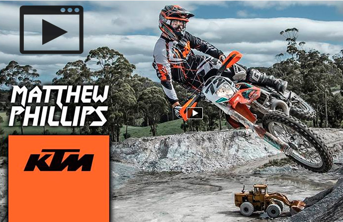 Matt Phillips chez KTM enduro