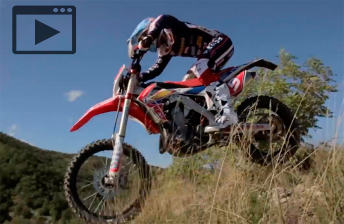 Alex Salvini enduro Honda
