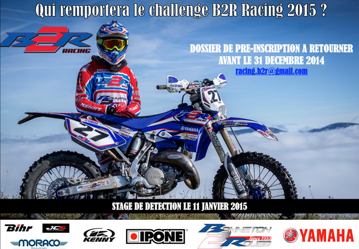 visuel sélection  pilote Team B2R Racing enduro 2015