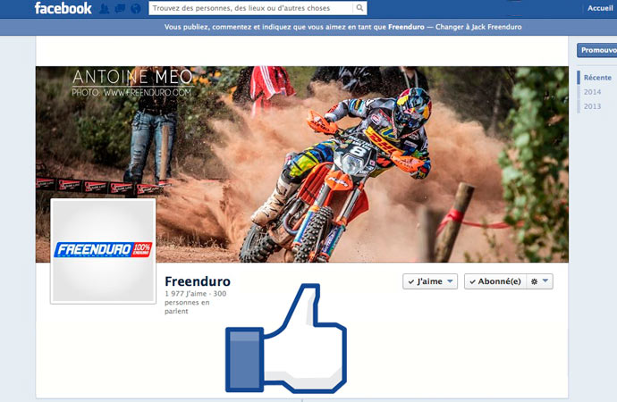 Freenduro page Facebook