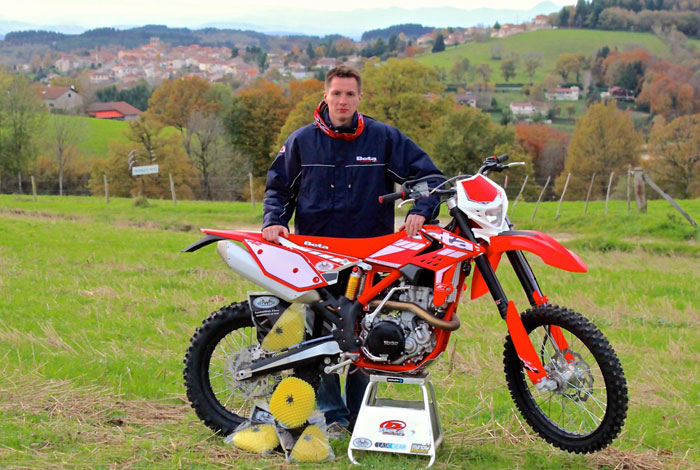 Pierre Vissac pilote enduro chez Beta motor France