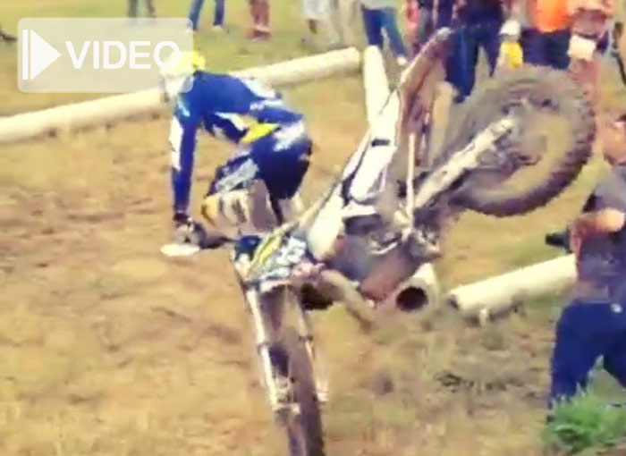 Graham Jarvis  pilote enduro  Husqvarna crash