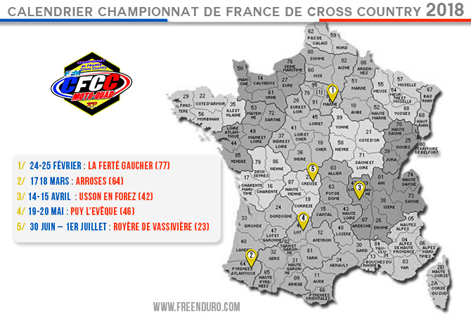 date cross country france 2018 moto quad 2