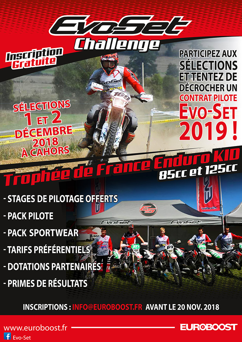Flyer EvoSet challenge KID 2019