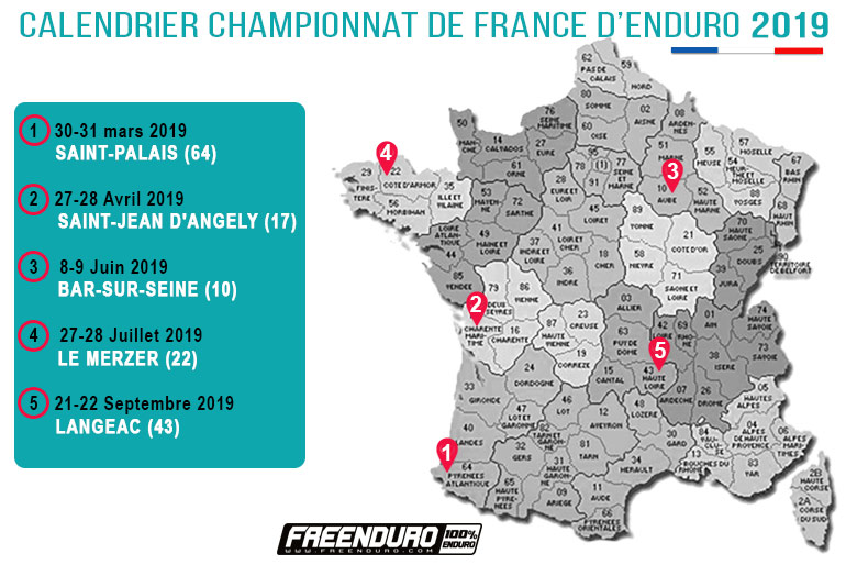 calendrier enduro france 2019
