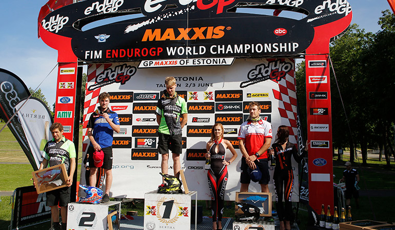 podium E1 Estonie J2 enduro