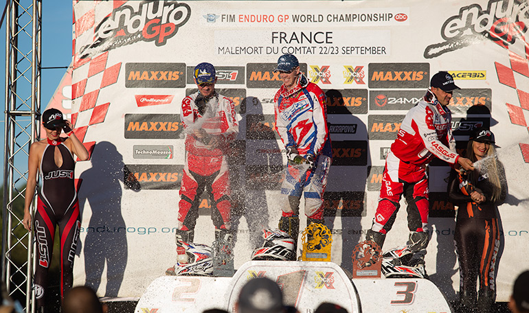podium enduro gp france 2018