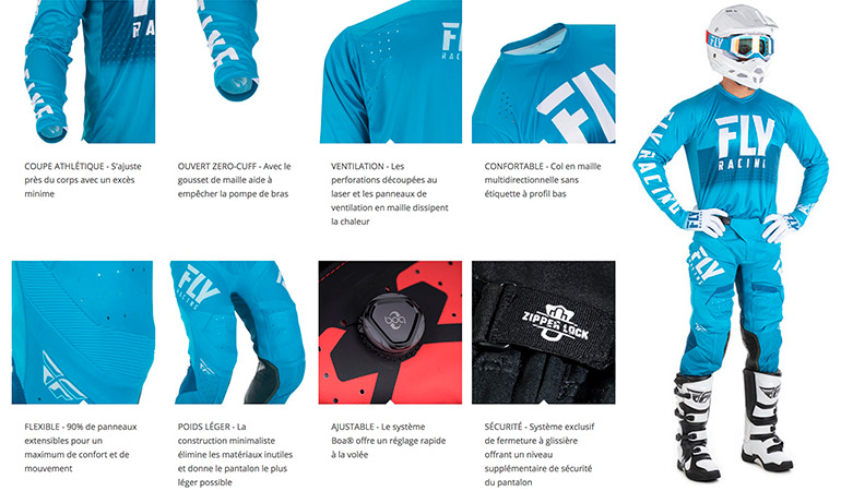 tenues cross fly racing hydrogen 2018
