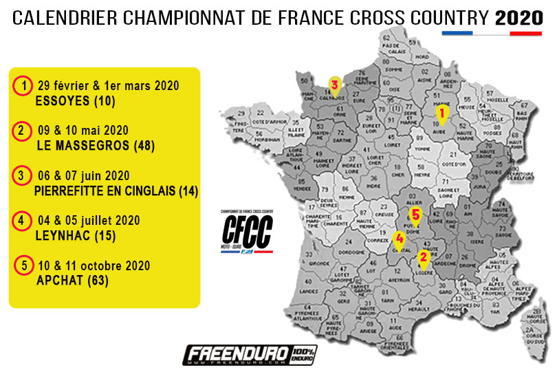 Calendrier CF Cross Country 2020