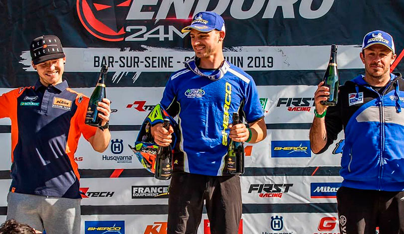 podium E1 enduro france bar sur seine J1
