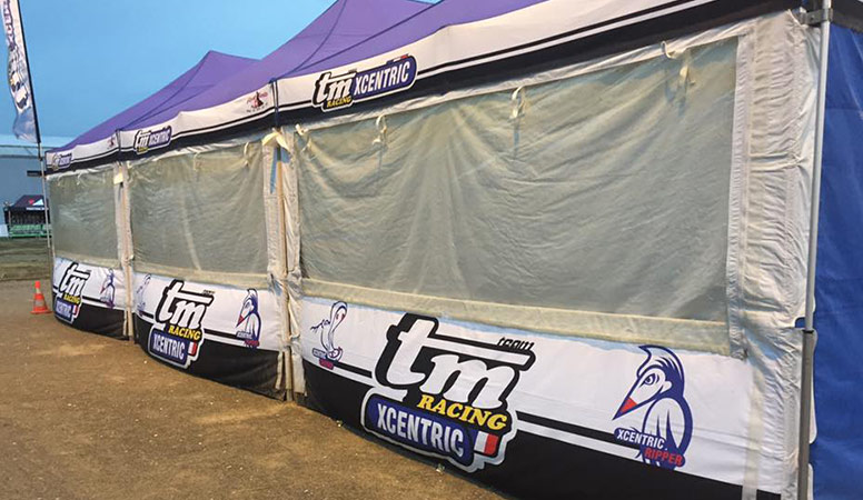 team TM Racing France paddock