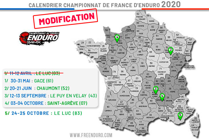 Calendrier enduro France 2020