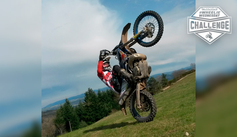 photo chute pilote enduro