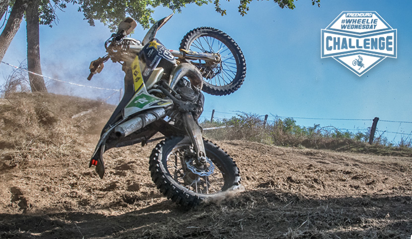 photo wheeling enduro Arnaud Chincholle