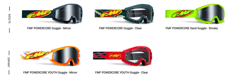 Masques FMF vision PowerCore
