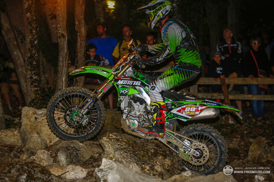 photo enduro  : Pierrick Roncin dans le pierrie du DEFI MAD  2016